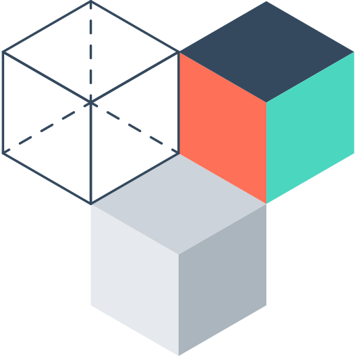 3 cubes icon